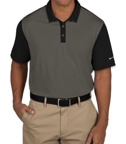 Nike Golf Dri-FIT Colorblock Icon Performance Polo - Dark Grey / Black