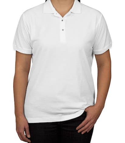 Port Authority Women's Silk Touch Polo - White