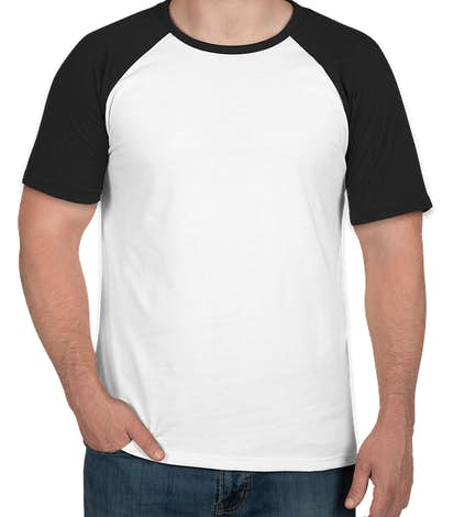 Next Level Short Sleeve Baseball Raglan - Black / White