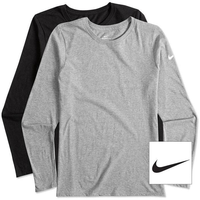 2df9f8d2 Custom Nike Women's 100% Cotton Long Sleeve T-shirt - Design Women's ...