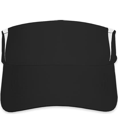 Sport-Tek Colorblock Performance Visor - Black / White