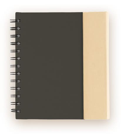 Organized Lock-it Spiral Notebook w/ Pen - Black