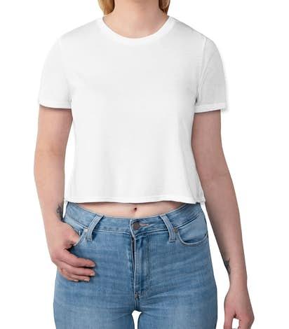 Bella + Canvas Women's Flowy Crop T-shirt - White