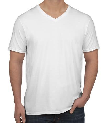 1fcfac393b91 Custom Canada - Gildan Softstyle Jersey V-Neck T-shirt - Design T ...