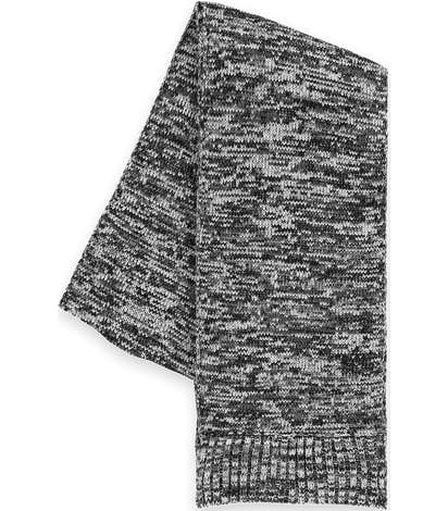 Sport-Tek Melange Marled Scarf - Black/ Iron Grey/ White