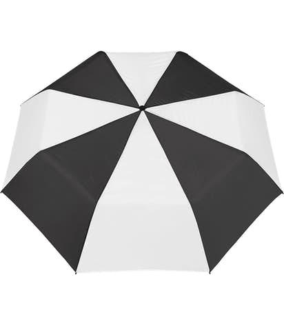"Arc Budget Multi-Tone Telescopic 42"" Umbrella - Black / White"