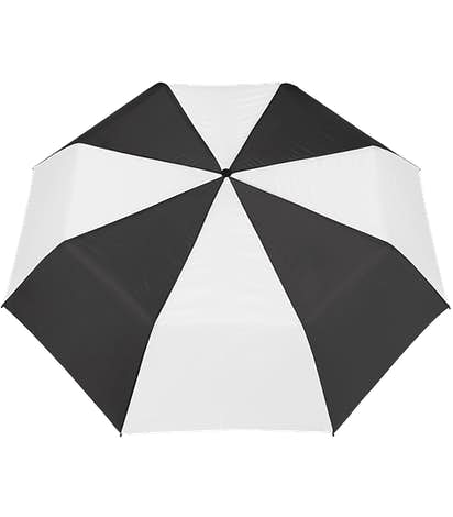 "Arc Budget Multi-Tone Telescopic 42"" Umbrella - Black / White"