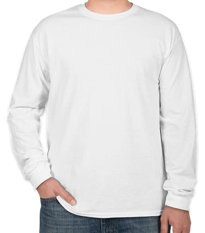 Canada - Gildan 100% Cotton Long Sleeve T-shirt - White