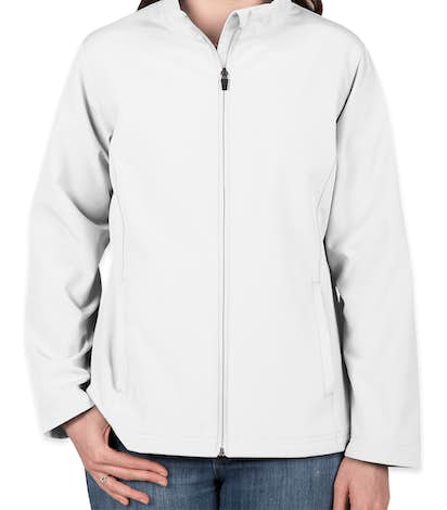 Team 365 Women's Soft Shell Jacket - White