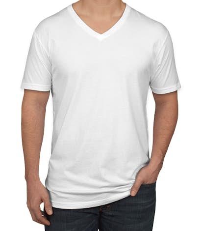 Next Level Jersey V-Neck T-shirt - White