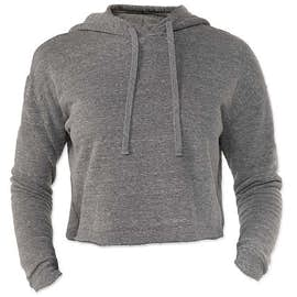 Royal Apparel Women's USA-Made Eco Tri-Blend Cropped Hoodie