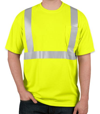 CornerStone Class 2 Performance Safety Pocket Shirt - Safety Yellow
