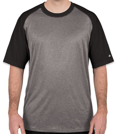 0a804283 Custom Badger Pro Heather Short Sleeve Baseball Raglan - Design ...