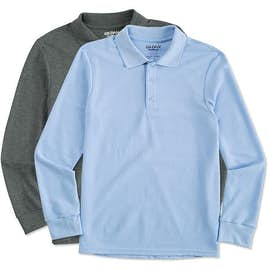 Gildan Dryblend Double Pique Long Sleeve Polo