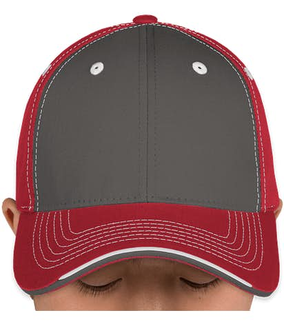 Canada - Sportsman Tri-Color Contrast Stitched Hat - Charcoal / Garnet