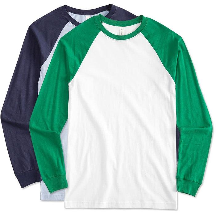 82bd84b3768 Design Custom Printed Canvas Long Sleeve Raglan Shirts Online at ...