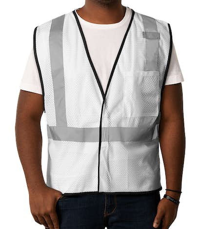 ML Kishigo Non-ANSI Enhanced Visibility Color Safety Vest - White