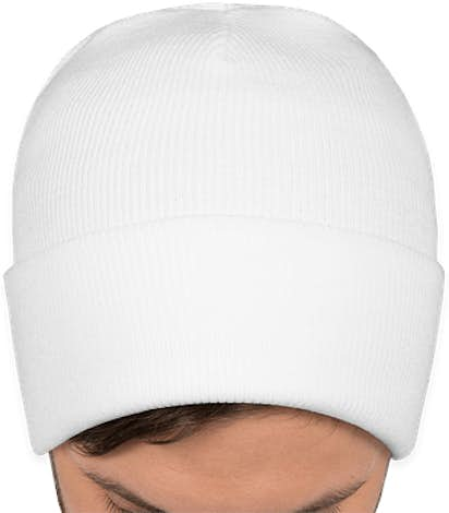 Port & Company Fleece Lined Cuff Beanie - White