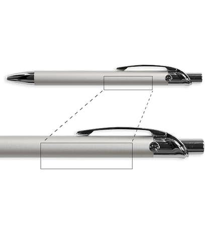 BIC Emblem Metal Pen (black ink) - Silver