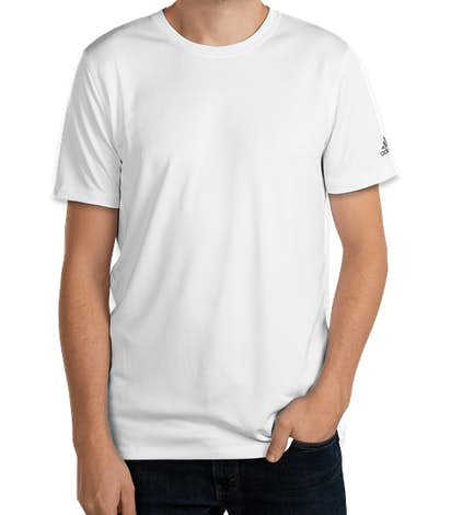 Adidas Solid 100% Recycled UPF Performance Shirt - White