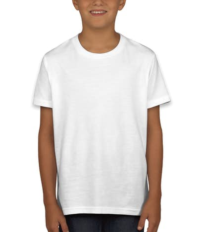 Bella + Canvas Youth Jersey T-shirt - White