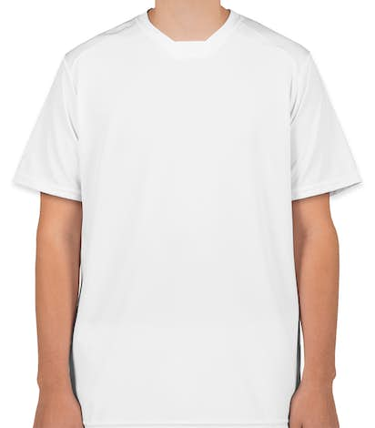 High Five Contrast Performance Soccer Jersey - White / White