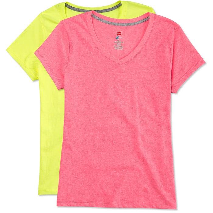 Custom Hanes Women S X Temp V Neck T Shirt Design Women S Short