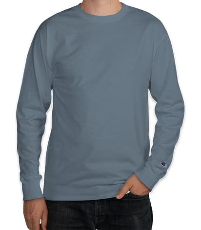 Champion Garment Dyed Long Sleeve T-shirt - Saltwater
