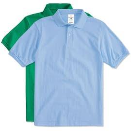 Hanes Ecosmart 50 50 Jersey Polo