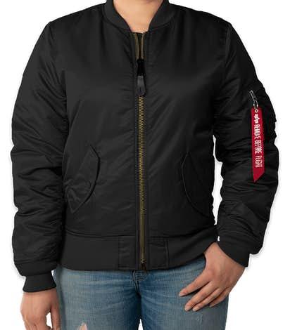 Alpha Industries Women's MA-1 Flight Jacket - Black