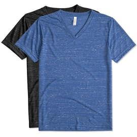 Bella + Canvas Melange Blend V-Neck T-shirt