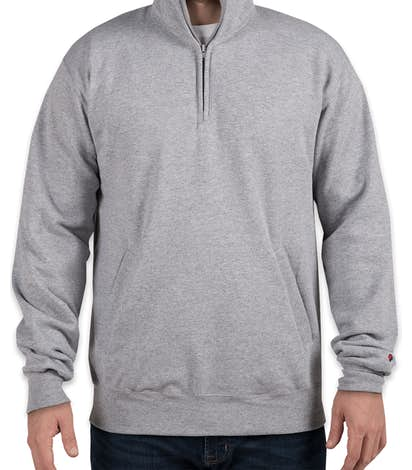 Champion Double Dry Eco Quarter Zip Pullover Sweatshirt - Light Steel