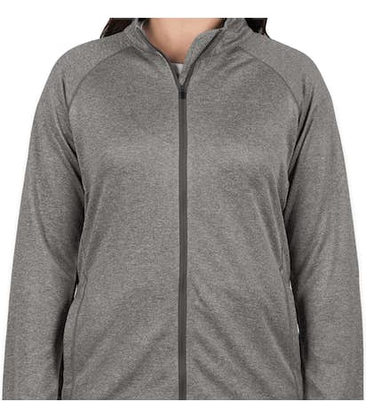 Devon & Jones Women's Heather Performance Full Zip - Dark Grey Heather