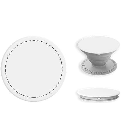 Basic PopSocket® - White / Light Grey
