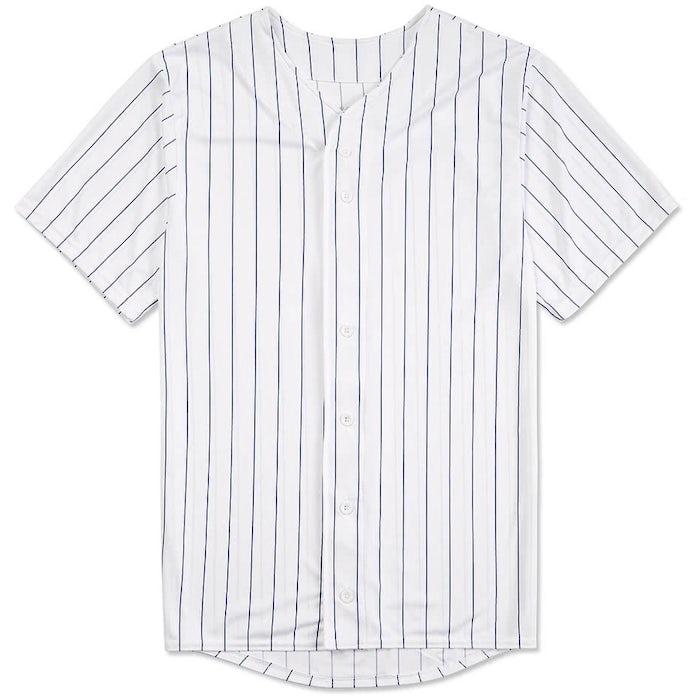 Design Custom Augusta Pinstripe Full Button Baseball Jerseys Online