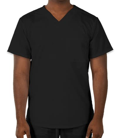 Cherokee Workwear Revolution One-Pocket Scrub Top - Black