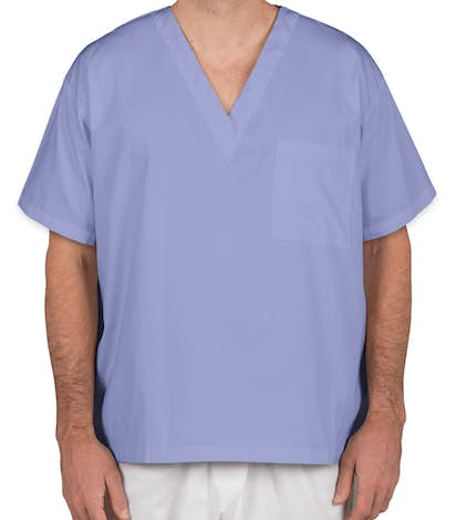 Harriton V-Neck Scrub Top - Ciel Blue