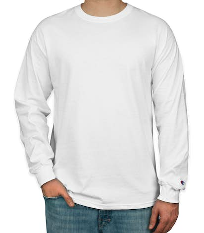 Design Custom Printed Champion Tagless Long Sleeve T-Shirts Online ... f14db5e8b446