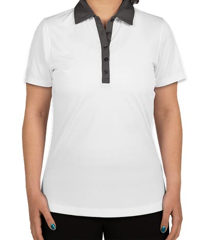 Clique by Cutter & Buck Women's Colorblock Performance Polo - White / C Titan