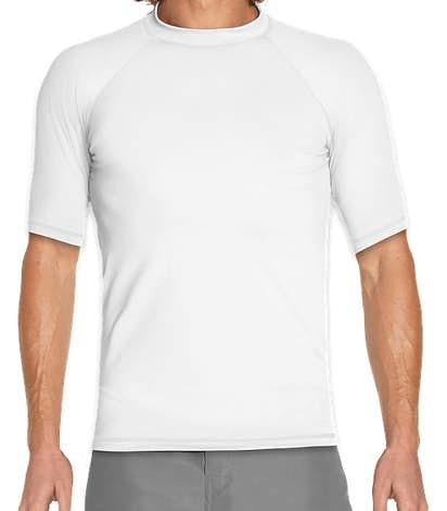 UPF 50+ Short Sleeve Rash Guard Shirt - White