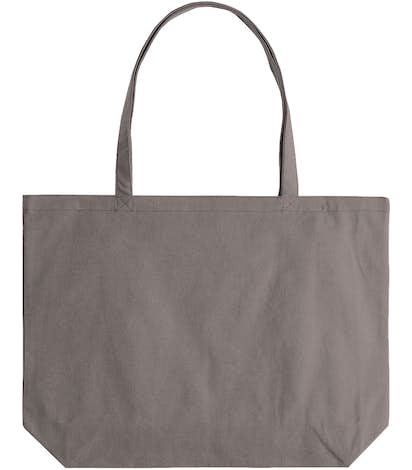 Medium Midweight Pigment Dyed Canvas Tote - Grey