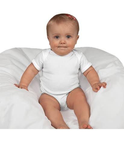 Rabbit Skins Jersey Baby Bodysuit - White