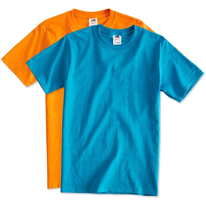 bff53a5e1a8dc2 Custom Fruit of the Loom 100% Cotton T-shirt - Design Short Sleeve T ...