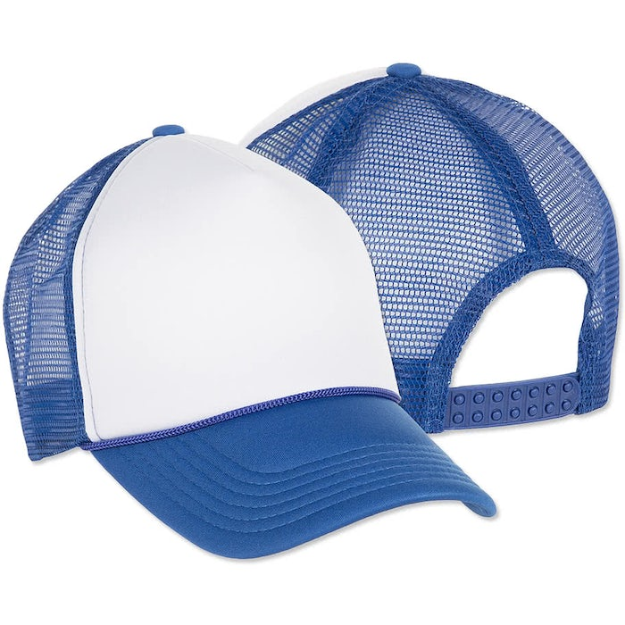 b2c2bbb9 Design Custom Printed Valucap Foam/Mesh Trucker Hat Online at CustomInk