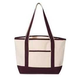 Medium Premium Cotton Boat Tote - Screen Printed