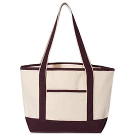 Medium Deluxe Canvas Boat Tote