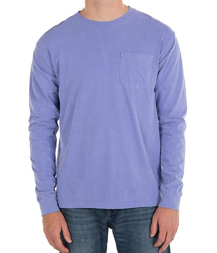 7d79cd68 Design Comfort Colors Long Sleeve Pocket T-Shirt Online at CustomInk