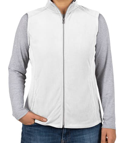 Port Authority Women's Microfleece Vest - White