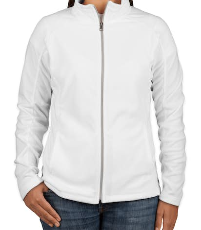 Port Authority Women's Full Zip Microfleece Jacket - White