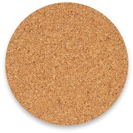 4 in. Circle Cork Coaster (.055 weight)